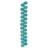Turquoise Dyed Composite Stone Teardrop Bead Strand