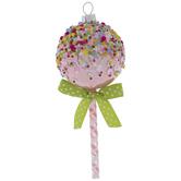 Pink Round Lollipop Ornament
