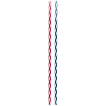 Red, White & Blue Striped Straws