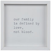 Our Family Is Defined By Love Wood Decor