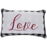 Love Buffalo Check Pillow