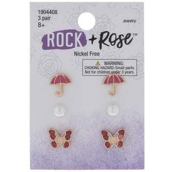 Umbrella & Butterfly Earrings