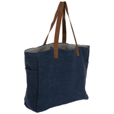 Blue Denim Juco Tote Bag