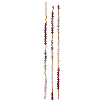Red & Pink Stone Bead Strands