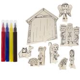 Wood Nativity Scene Craft Kit