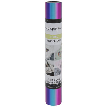 Blue, Purple & Pink Holographic Iron-On Transfer