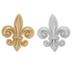 Silver & Gold Fleur De Lis Shank Buttons
