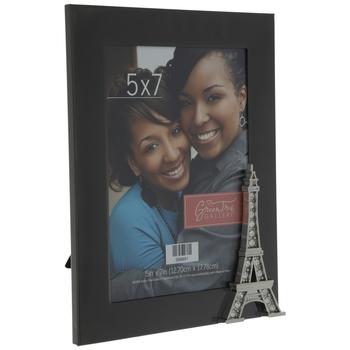 "Black Eiffel Tower Metal Frame - 5"" x 7"""