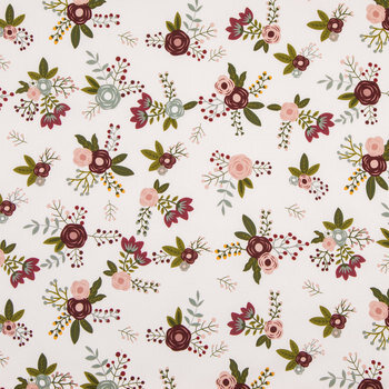 Sweet Berry Floral Apparel Fabric