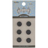 Black Round Shank Buttons - 10mm