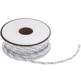 """White & Silver Metallic Cord - 3/16"""""""