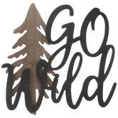 Go Wild Wood Wall Decor