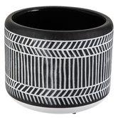 Black & White Geometric Flower Pot