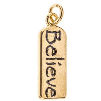 Believe Tag Charm