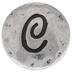 Hammered Letter Mini Snap Charm - C