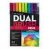 Bright Dual Brush Pens - 10 Piece Set