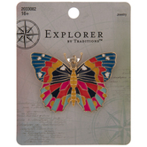 Bright Butterfly Metal Pendant