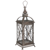 Distressed Copper Metal Lantern