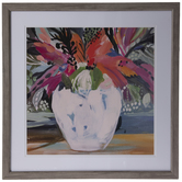 Abstract Floral Vase Framed Wall Decor
