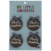 Merry Christmas Round Tag Mini Ornaments