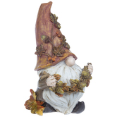Gnome Holding Garland