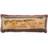 Christmas Day Plaid Pillow