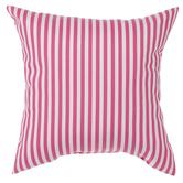 Pink & White Striped Pillow