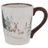 Pine Trees & Reindeer Mug