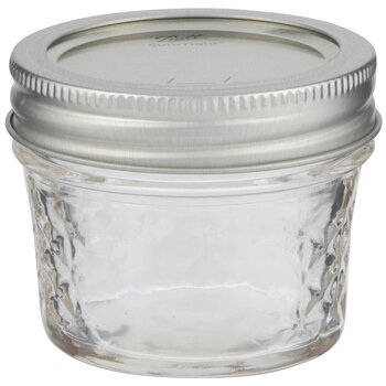 Quilted Glass Mason Jar - 4 Ounce