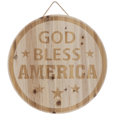 God Bless America Wood Wall Decor