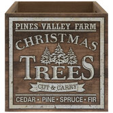 Pines Valley Farm Wood Tree Container