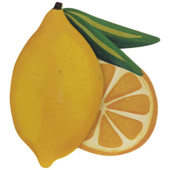 Lemons Painted Wood Shape