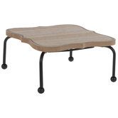 Quatrefoil Wood Trivet Stand