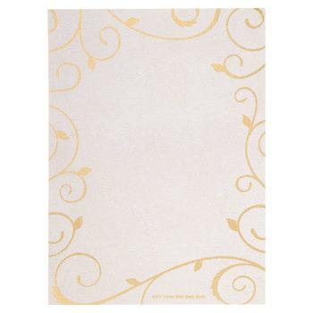 Cream & Gold Swirl Invitations