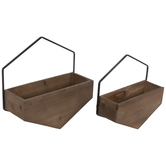 Hexagon Wood Wall Container Set