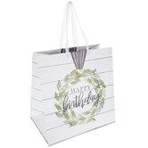 Happy Birthday Cotton Wreath Gift Bag - Large