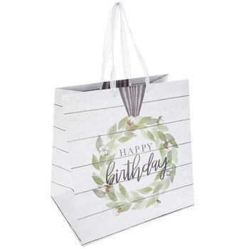 Happy Birthday Cotton Wreath Gift Bag