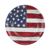 American Flag Plank Plates - Small