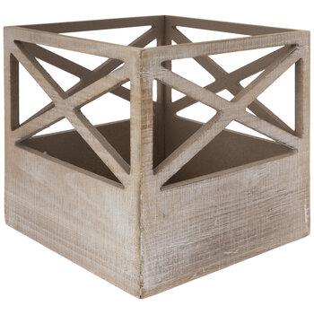 Geometric Cutout Wood Box