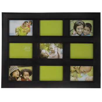 Black Distressed Collage Wall Frame