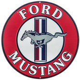 Ford Mustang Round Metal Sign