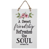 Proverbs 27:9 Floral Metal Wall Decor