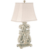Distressed Scroll Lamp