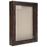 "Distressed Walnut Wood Shadow Box - 11"" x 14"""
