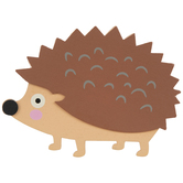Hedgehog Painted Wood Shape