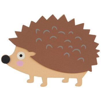 Hedgehog Painted Wood Shape