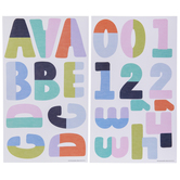 Two-Tone Alphabet Stickers