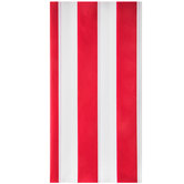 Red & White Carnival Striped Table Cover