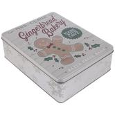 Mrs. Claus' Gingerbread Bakery Tin Box