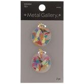 Geometric Confetti Disc Pendants